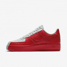 Nike Air Force 1 Lifestyle Shoes Mens Barely Grey/Habanero Red 905345-005