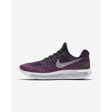 Nike LunarEpic Low Flyknit 2 Running Shoes Womens Black/Hyper Punch/Persian Violet/Metallic Silver 863780-015