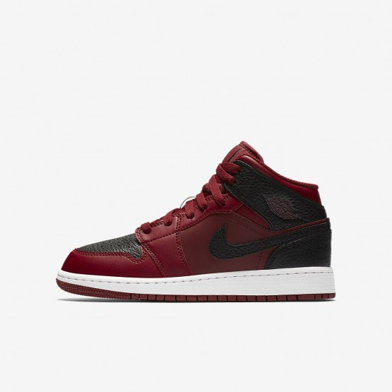 Nike Air Jordan 1 Lifestyle Shoes Boys Team Red/Summit White/Gym Red 554725-601
