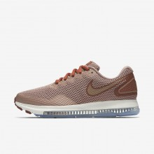 Nike Zoom All Out Low 2 Running Shoes Womens Dusty Peach/Particle Pink/Metallic Red Bronze AJ0036-200