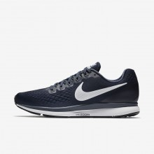 Nike Air Zoom Pegasus 34 Running Shoes Mens Obsidian/Thunder Blue/Black/White 880555-407