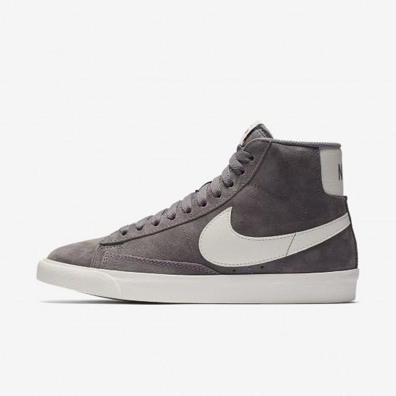Nike Blazer Mid Vintage Lifestyle Shoes Womens Gunsmoke/Sail/Black 917862-004