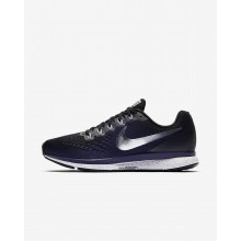 Nike Air Zoom Pegasus 34 Running Shoes Womens Black/Ink/Provence Purple/Metallic Silver 880560-015
