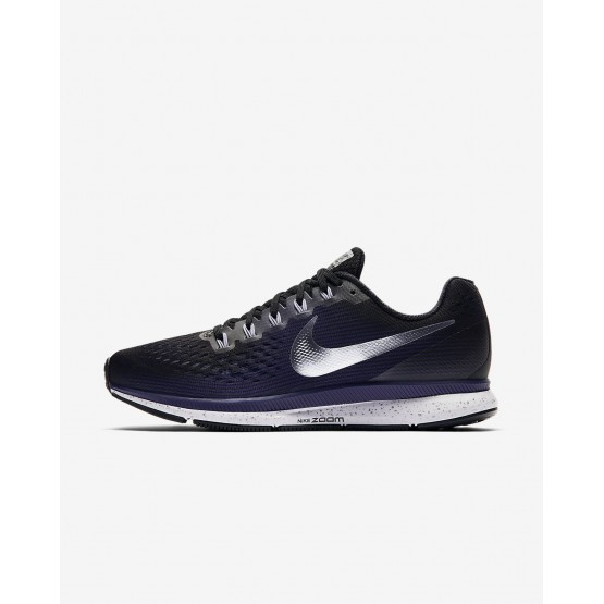 Nike Air Zoom Running Shoes Womens Black/Ink/Provence Purple/Metallic Silver 880560-015