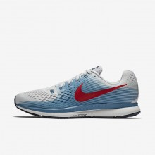 Nike Air Zoom Pegasus 34 Running Shoes Mens Vast Grey/Aegean Storm/Thunder Blue/University Red 880555-016