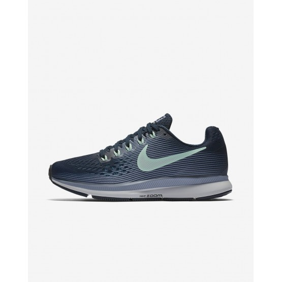 Sapatilhas Running Nike Air Zoom Pegasus 34 Mulher Azul Marinho/Cinzentas/Pretas/Menta 880560-405